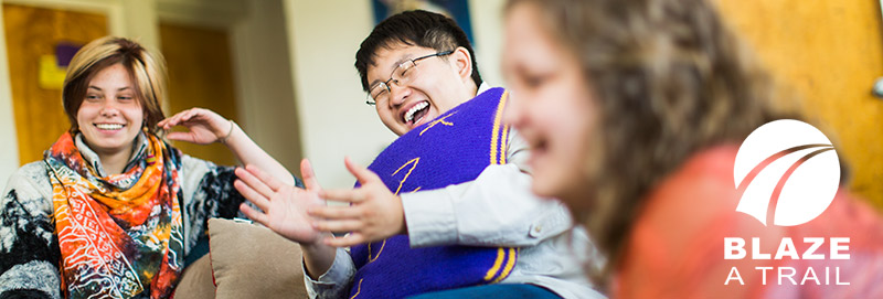 Students enjoy themselves in the Knox College residence halls