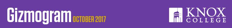 October 2017 Gizmogram banner