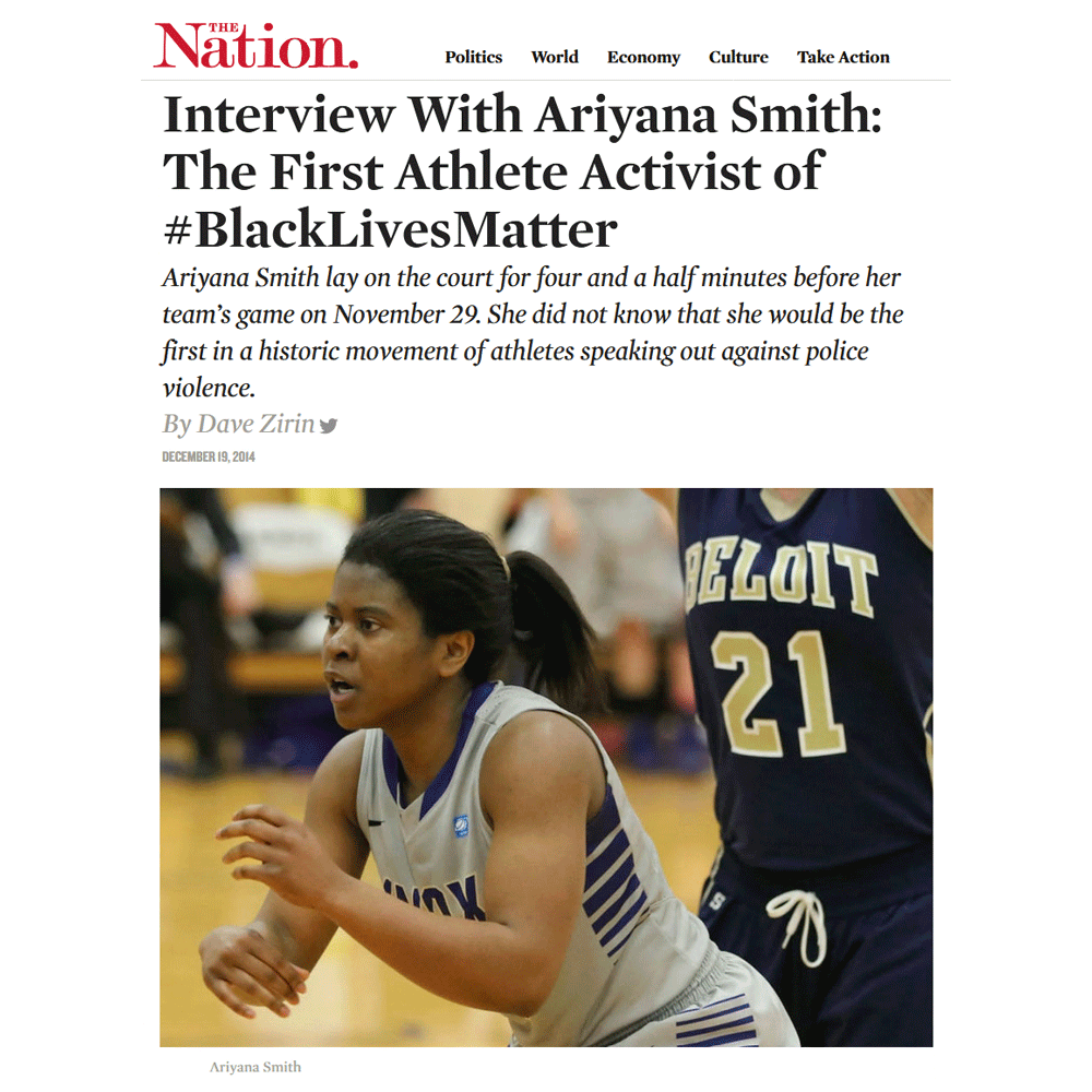 Ariyana Smith news article.