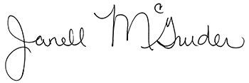 Janell McGruder signature