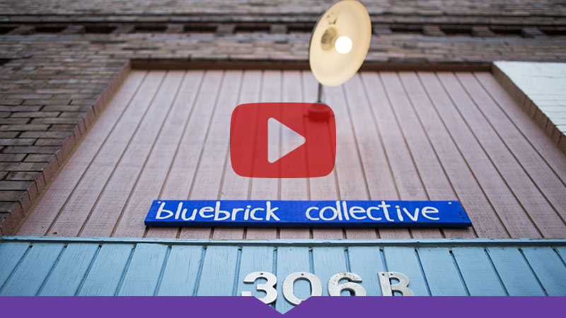 Bluebrick Collective in downtown Galesburg.