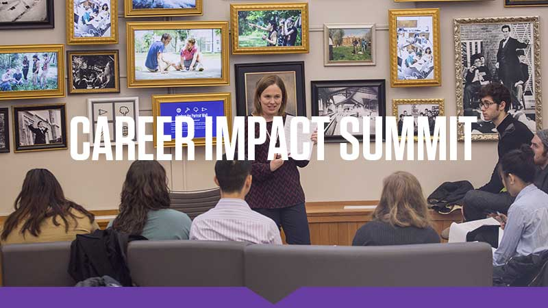 Students participate in the Career Impact Summit