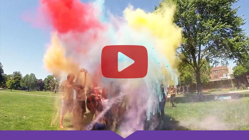 Knox College students celebrate Holi