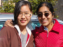 During her sophomore year at Knox, Sarah Kurian (right) traveled to Spain with the Knox Choir. Also pictured is Shih Yi Goh '11.