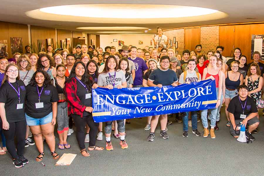 Knox students performed community service as part of the Explore and Engage event