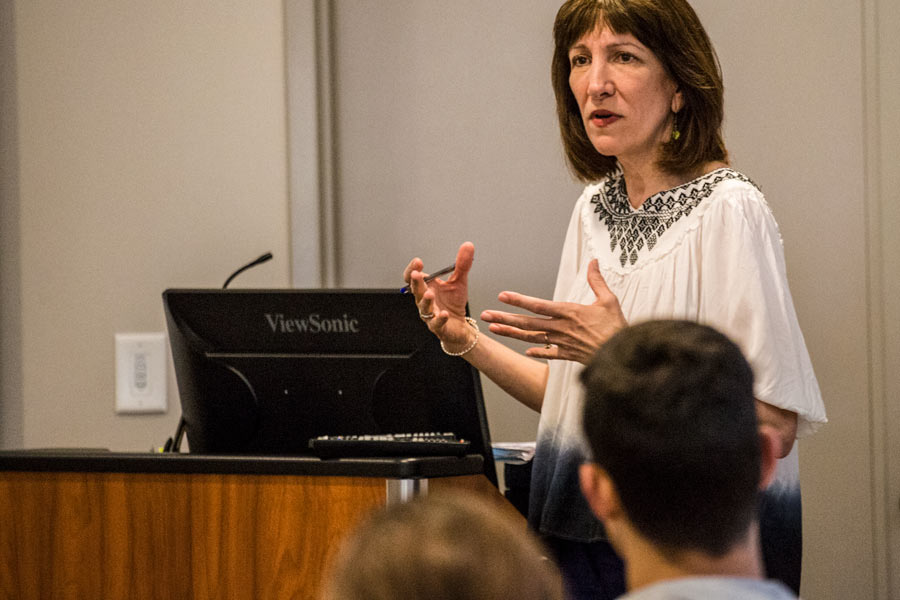 Ethicist in Residence Anita Tarzian presents in a health psychology course