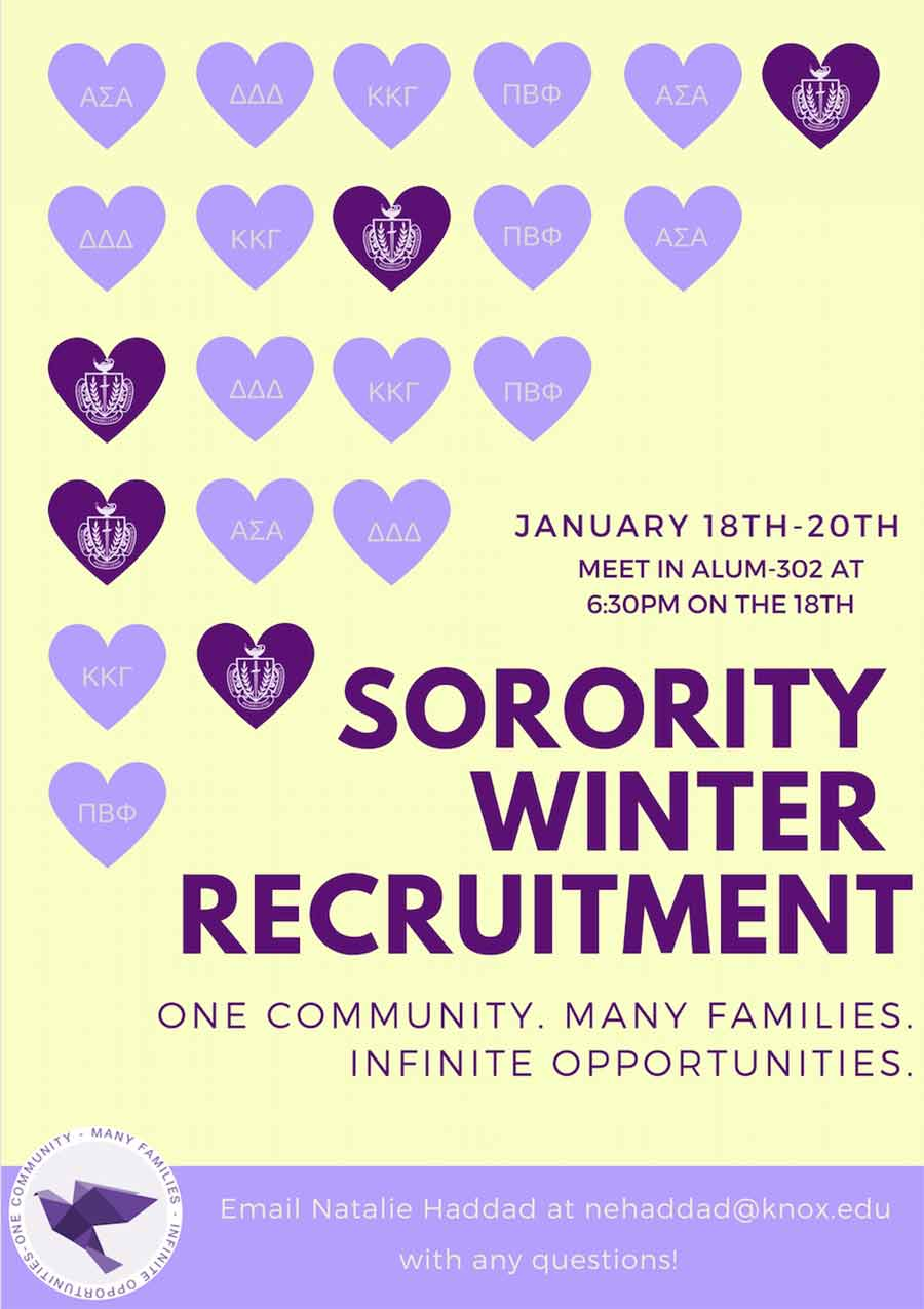 Sorority Winter Recruitment