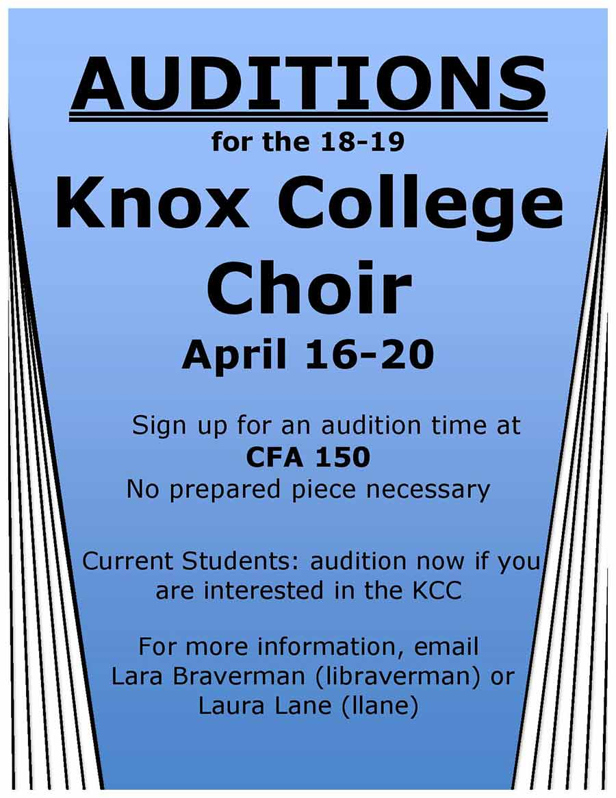 Knox College Choir Auditions