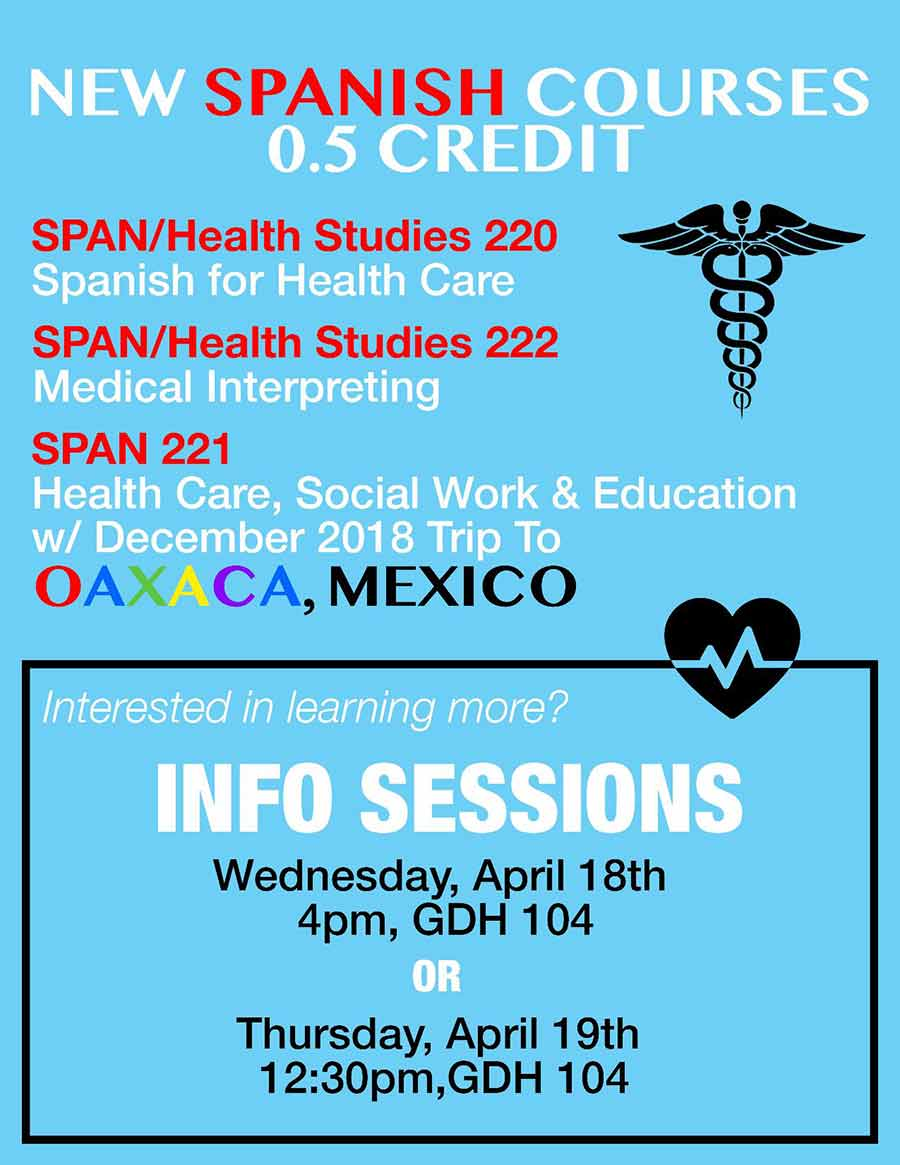 Information Session on New Spanish Courses