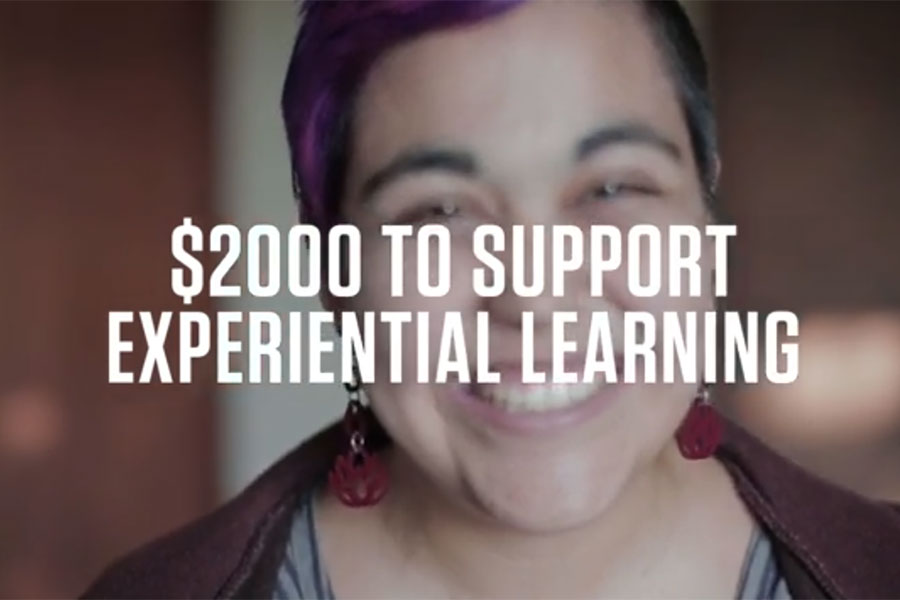 $2000 to Support Experiential Learning