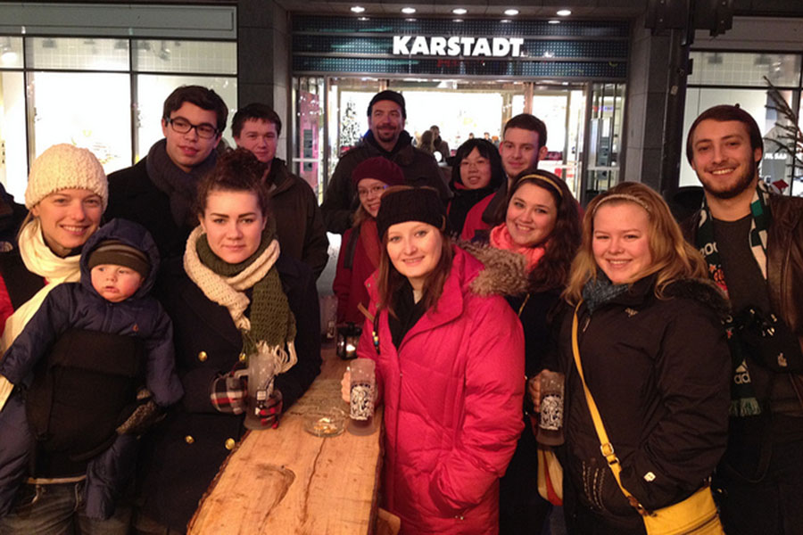 Christmas Markets of Berlin. Faculty Daniel Beers, Emre Sencer and Todd Heidt led students on a trip to Berlin, Germany, and Istanbul, Turkey, in conjunction with their European Identities class.