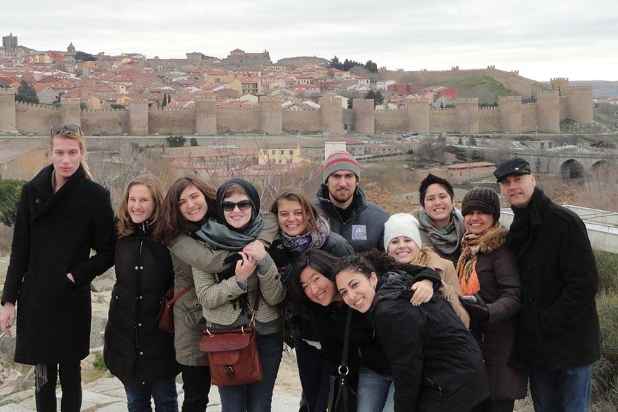 Knox College students in Barcelona.