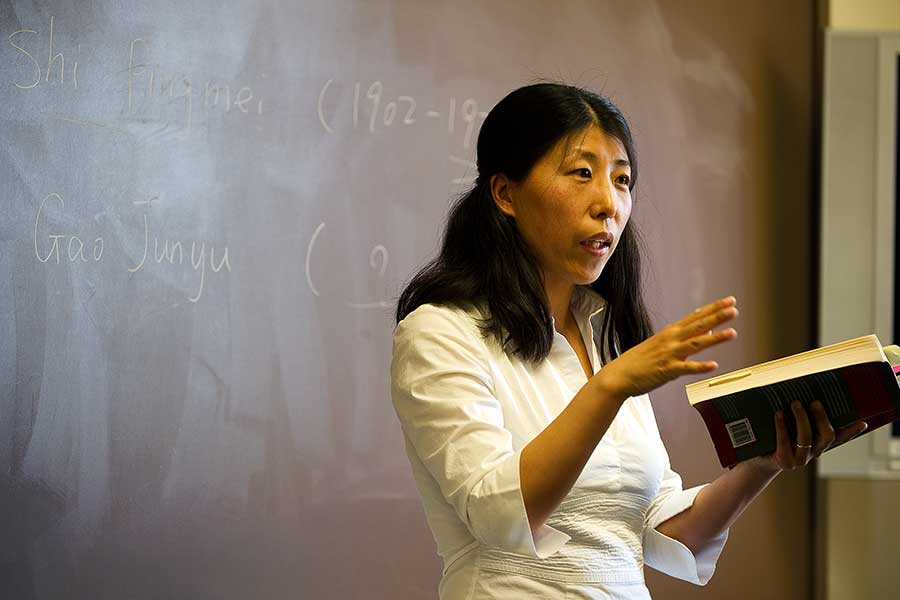 Associate professor of Asian studies Weihong Du