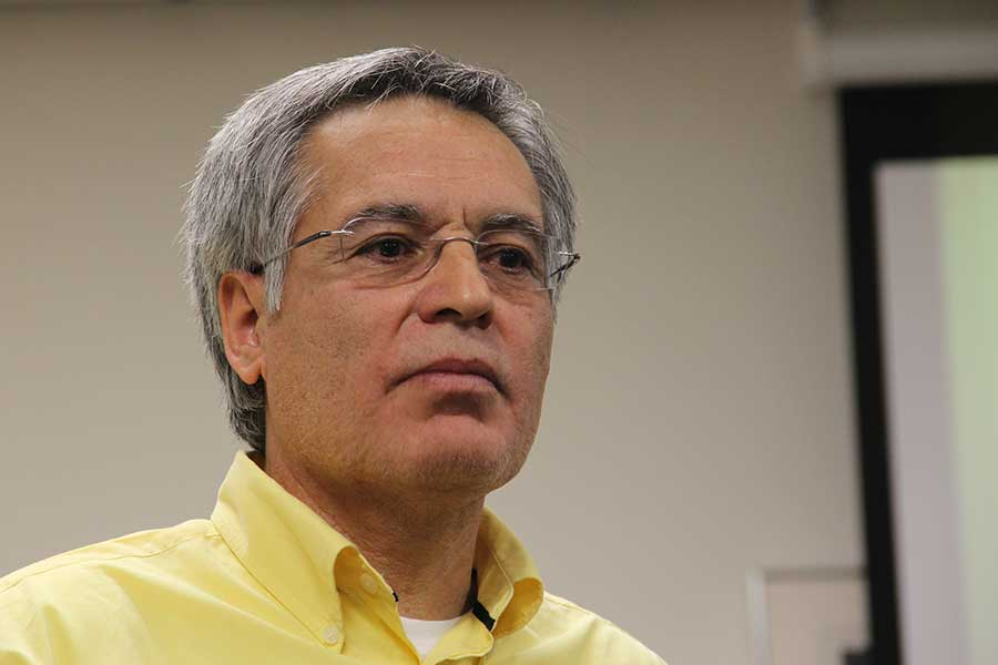 Professor of modern languages Julio Noriega