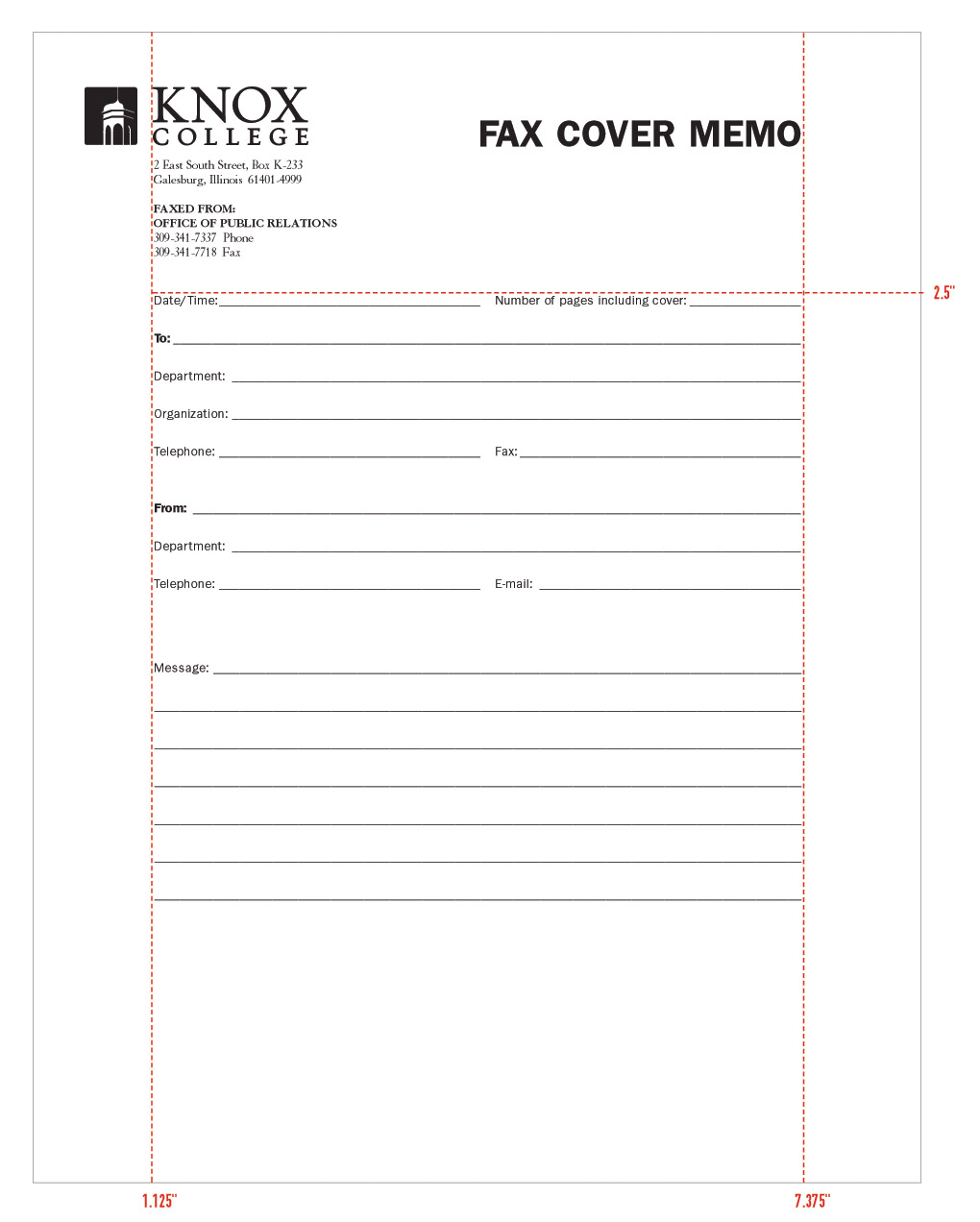 stationery system graphic identities standards college fax cover memo