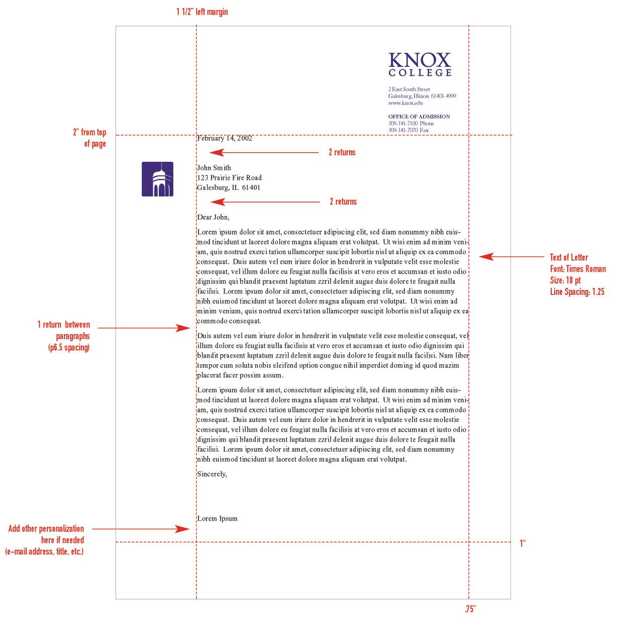 monarch letter format