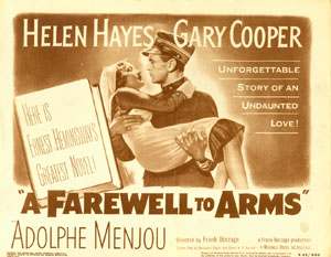 """A Farewell to Arms"" movie card"