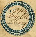 Identifying bookplate from original library collection