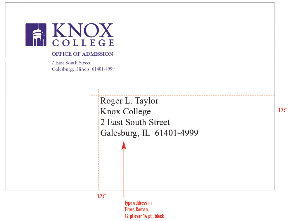 Mail A Letter Format from www.knox.edu