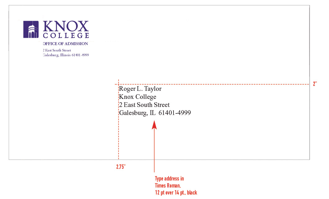 Stationery System Graphic Identities Standards Knox College