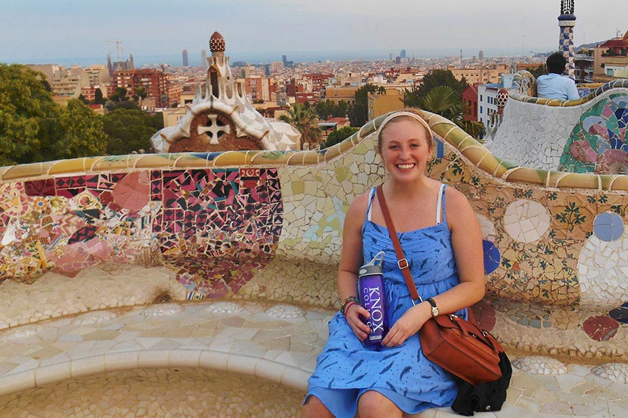 Kaitlin Hutchcroft studied abroad in Barcelona