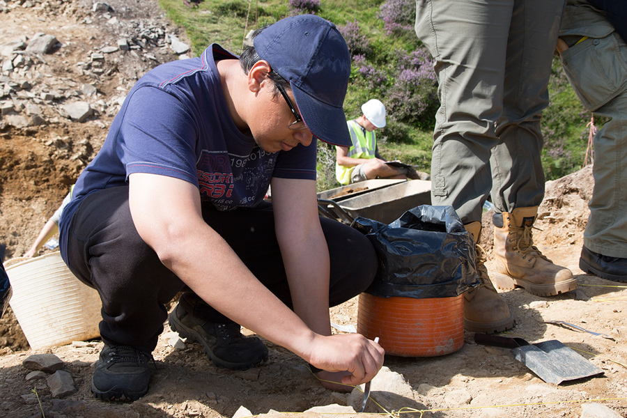 Soumitra Thorat worked as an undergraduate researcher at an archaeological site in Wales.