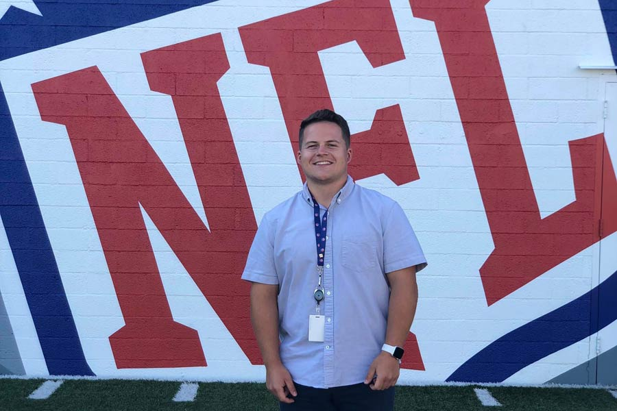 Jordan is working as a social media production assistant with the National Football League.