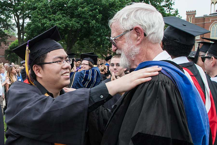 Nade Kang, business student at International University of Japan, at his Knox College graduation.