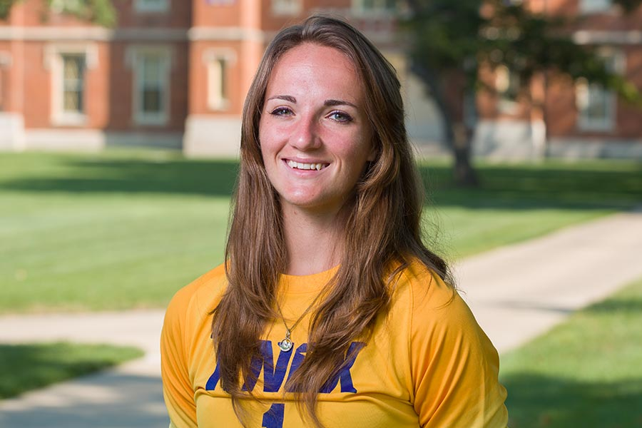 A Knox College women's soccer standout, Sierra Daniger is pursuing Honors research in biochemistry.