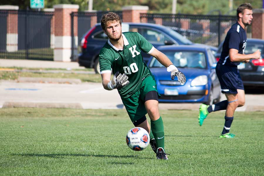 Justin Dunn is a senior goalkeeper for the men's soccer team.