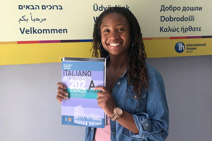 Taliah Ellis '19 studied abroad through the Doctors in Italy program.