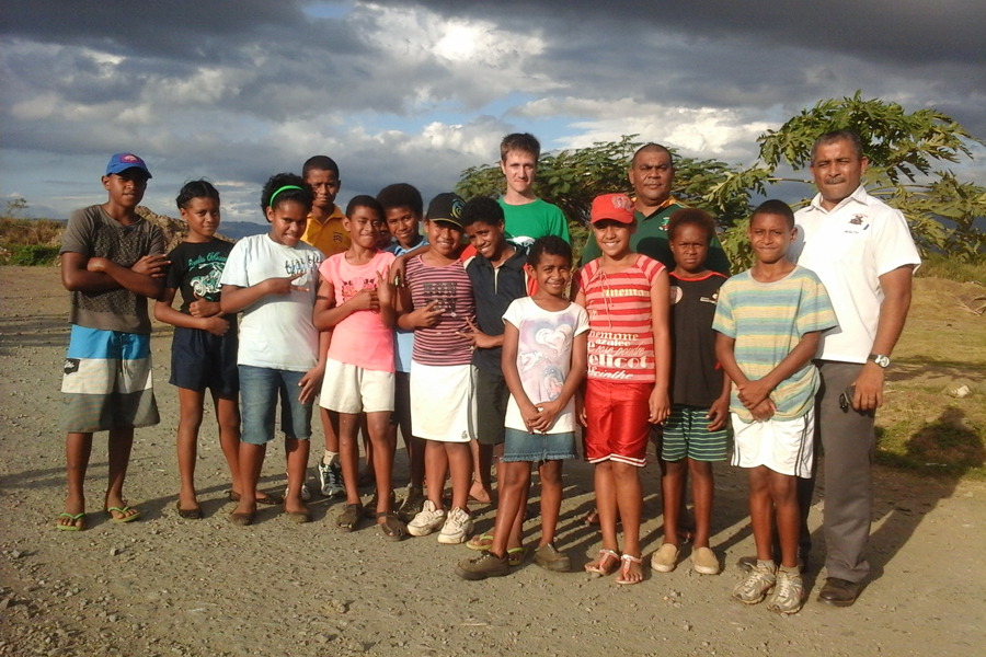 Courtright, a volunteer with the Peace Corps, will be in Sabeto, Fiji, until November 2016.