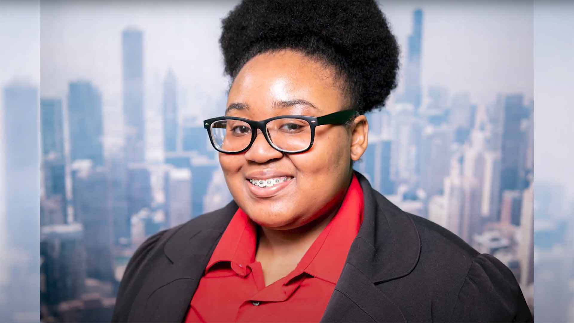 Taniayah Johnson '20 on the Wylie Internship Preparation Program