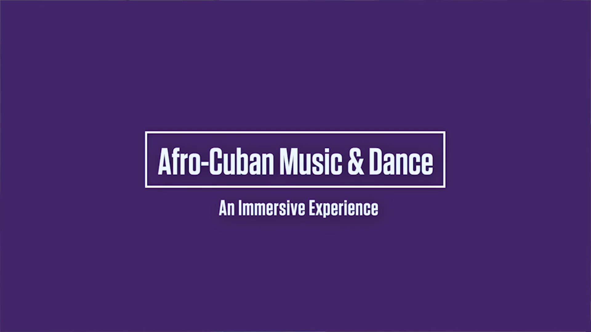 Afro-Cuban Music & Dance Immersive Experience