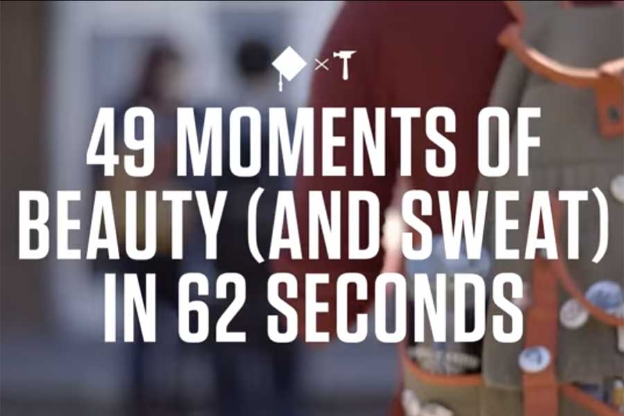 49 moments of beauty (and sweat) in 62 seconds.