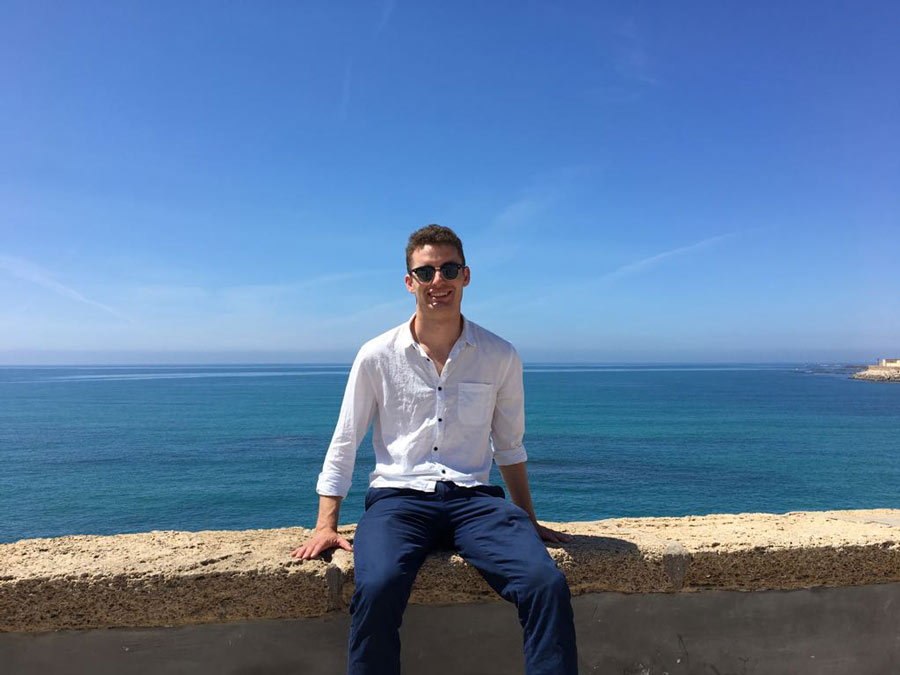 Charlie Harned '16 visiting Cadiz, Spain, during his teaching assistantship
