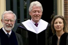President Bill Clinton, Janet McKinley and Douglas Wilson receive Honorary Degrees