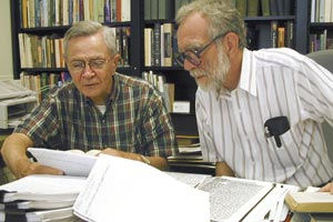 Rodney Davis, Douglas Wilson, in the Lincoln Studies Center at Knox College