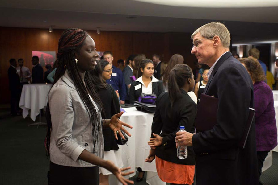 Students Network with Alumni About Careers
