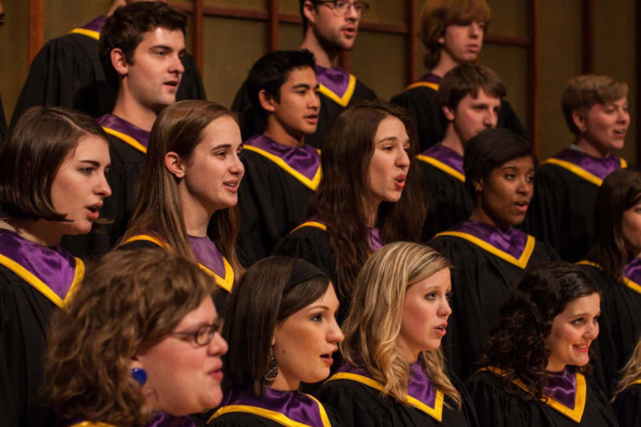 The Knox College Choir performs concerts all over the country and the world.