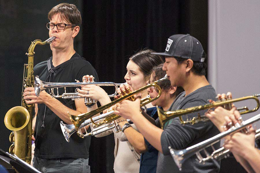 Students Work with Renowned Saxophonist and Composer