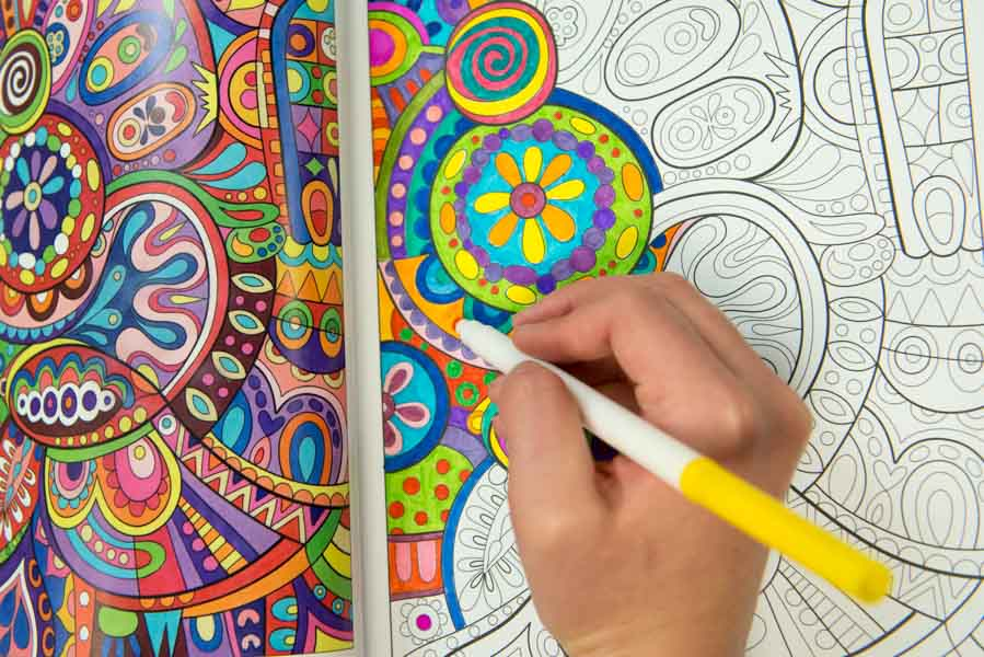 Knox Researchers Nancy Curry 04 And Psychology Professor Tim Kasser Investigated How Coloring Can Reduce