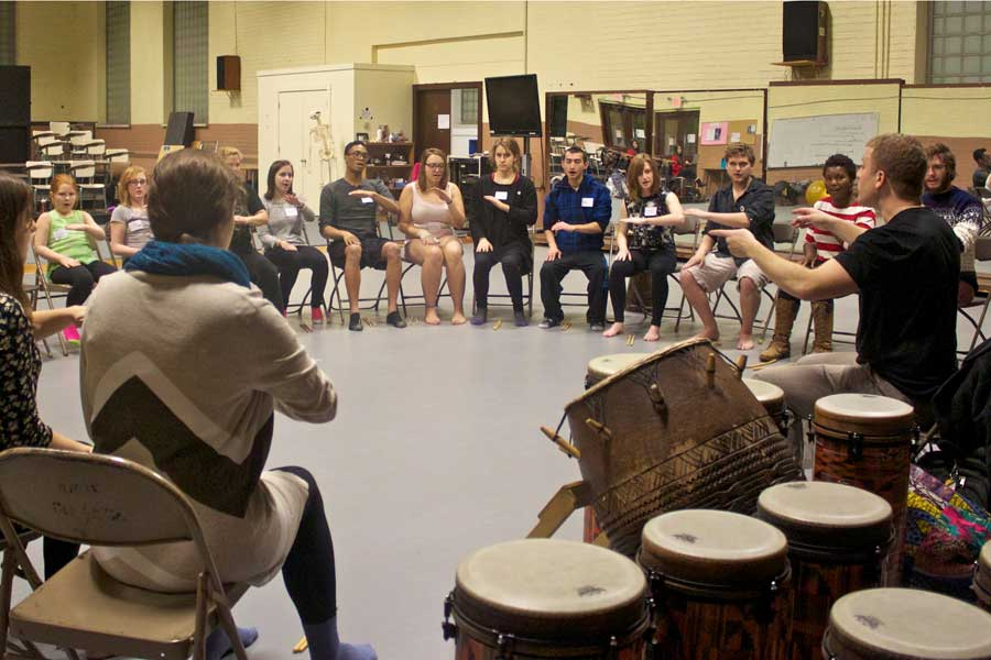 Bringing Ghana to Knox Through Rhythm and Movement