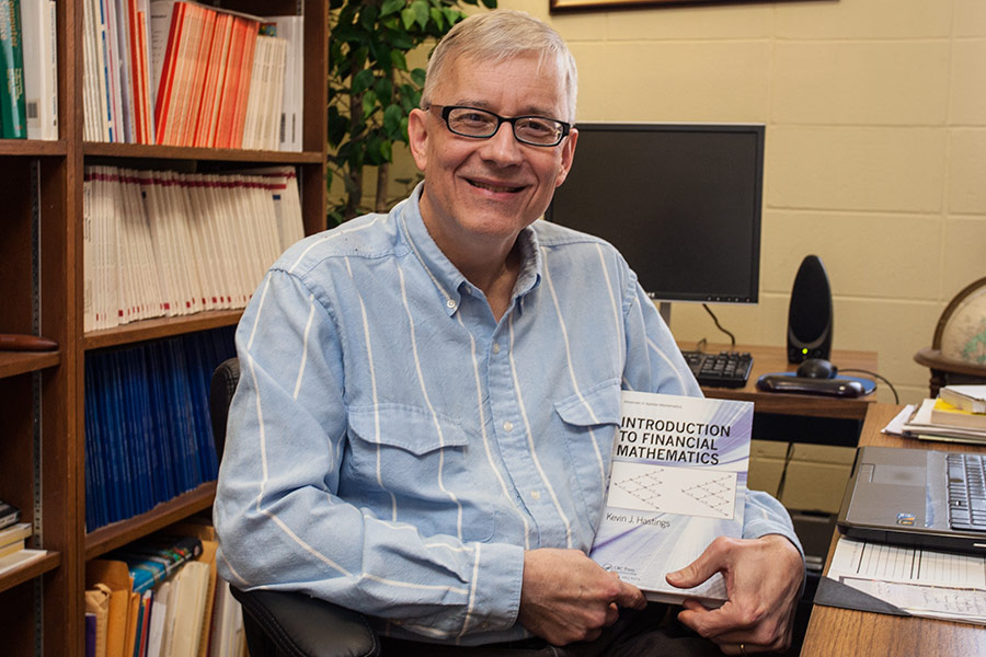 Kevin Hastings '76, Rothwell Stephens C. Distinguished Professorship in Mathematics, with his new book