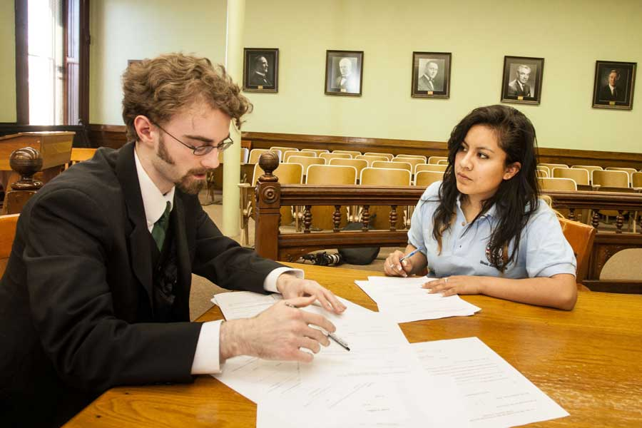 The JusticeCorps program at Knox College allows students to get a taste of what it's like to be a lawyer.