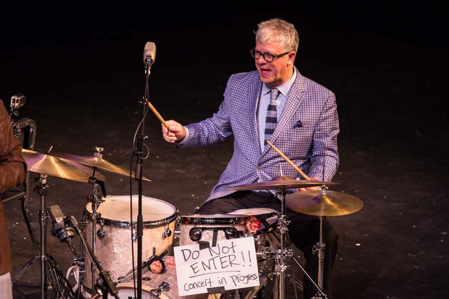 Renowned jazz drummer Matt Wilson, guest artist for the 2015 Mirza Jazz Residency at Knox College.