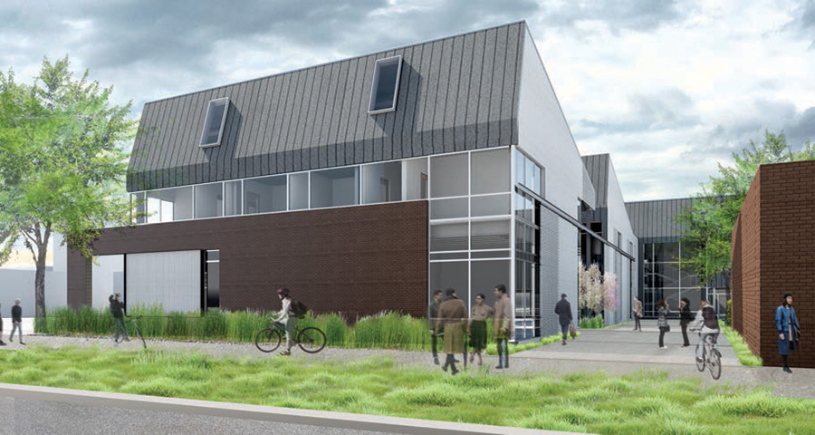 Rendering of the Whitcomb Art Building