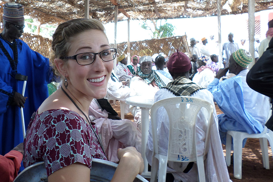 Knox alumni and former Peace Corps volunteer: Joyce Hall '11