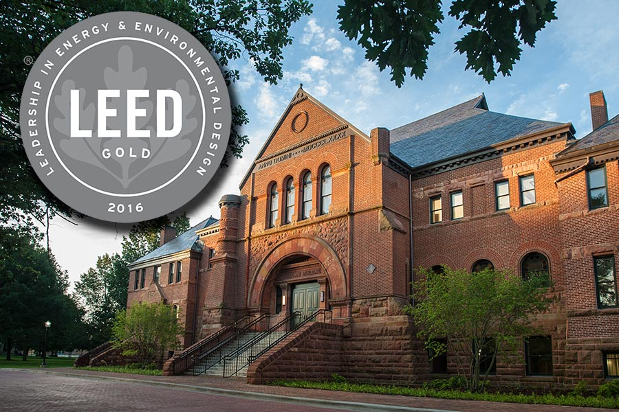 Alumni Hall Awarded for Energy & Resource Efficiency