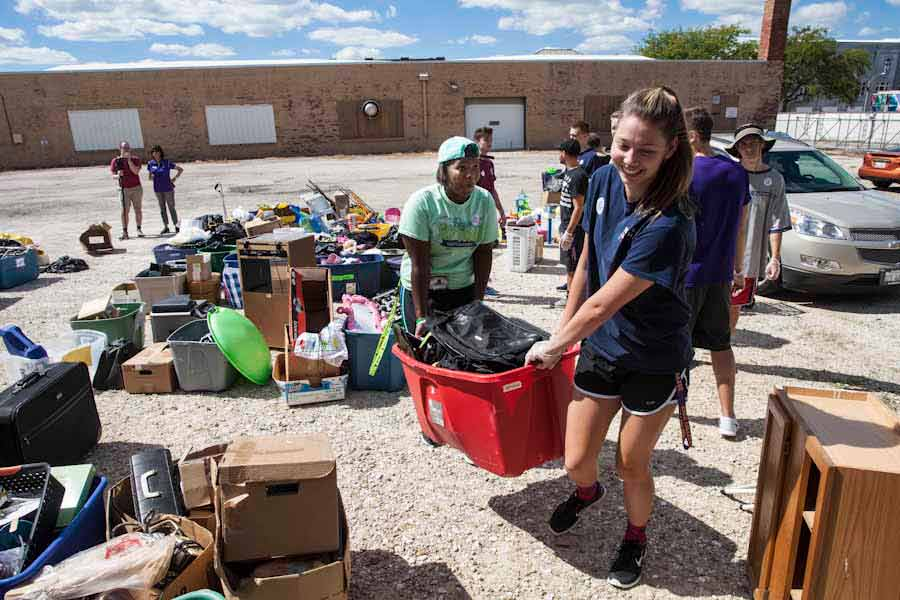 Knox College students contribute thousands of hours of community service, and Knox has earned national recognition for its commitment to community service.